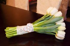 #Bouquet white Tulips https://www.facebook.com/irisdesign.pv?ref=hl #weddings #puertovallarta