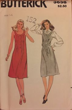 VTG 3638 Butterick 1980's dress or jumper.  by ThePatternParlor
