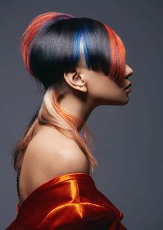 Top 5 semi finalists of creative category,Goldwell Colorzoom Malaysia Hair Styles 2016, Short Hair Styles, Disconnected Haircut, Fly Away Hair, Mixed Hair, Extreme Hair, Hair Photography, Fantasy Hair, Creative Hairstyles