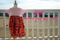 visit Abi's blog, The Modern Prairie Girl, for a tutorial on how to make this cute, quick play dress!