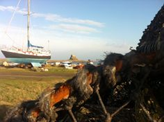 Boat on Lindisfarne Sailing Ships, Cottages, Boat, Cabins, Dinghy, Country Homes, Cottage, Boats, Sailboat