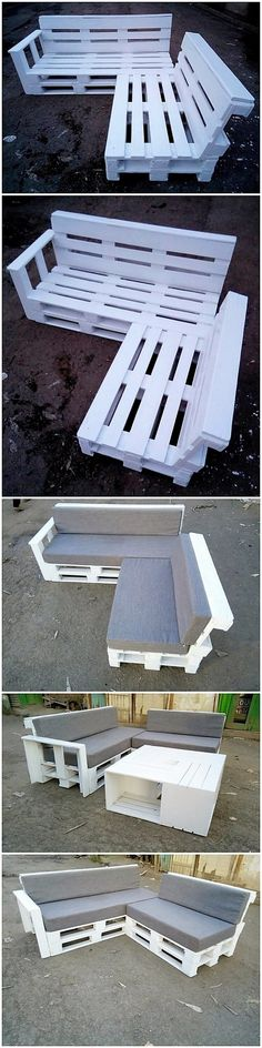 The Best and Easiest DIY Ideas with Recycled Wood Pallets: Let's give your dream home the feel of reality by showing you out with some of the mesmerizing and charming ideas of the old shipping wooden pallets. Pallet Couch, Wooden Pallet Furniture, Wooden Pallets, Wooden Diy, Into The Woods, Pallette Furniture, Pallet Projects, Pallet Ideas, Pipe Bed
