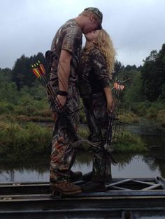 I love this..a couple that hunts together stays together :)