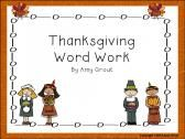 Thanksgiving Word Work product from Adventures-In-Teaching on TeachersNotebook.com