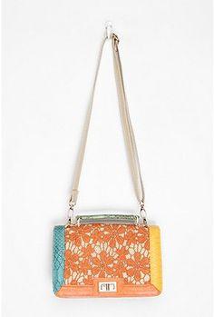 Kimchi Blue Neon Lace Crossbody Bag