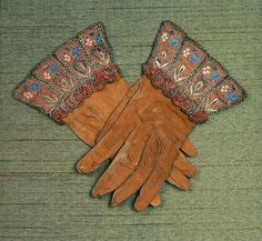 Reverse shot of English gloves, 1575-1625, Boston Museum of Fine Arts