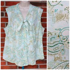 Secretary Top Blouse Pastel Paisley 22W Sleeveless Stretch Plus Size C32 #secretary #nerd #geek #pastel #paisley #plussize #summer #spring #ladyboss #career