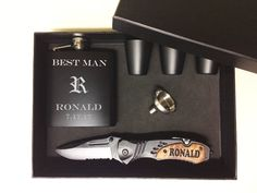 Groomsmen Gift Set of Groomsmen Gift Set Groomsman Gift Box, Personalized Groomsmen Gift Box, Groomsman Box, Engraved Knife, Wedding Gift Best Groomsmen Gifts, Groomsman Gifts, Personalized Gifts For Men, Engraved Gifts, Embroidery Designs, Engraved Knife, Expensive Gifts, Instruments, Girly