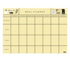 Featuring gorgeous Swedish graphics, this stylish Meal Planner Pad is great for helping you make mindful choices around your eating habits. With spaces for each meal, simply write down a plan for each day so you can organise ahead of time. The magnetic backing means you can place it on your fridge making it easy to use and enjoy.