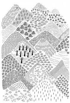 landscape zentangle art * landscape zentangle ` landscape zentangle patterns ` landscape zentangle ideas ` landscape zentangle art ` landscape zentangle colour ` zentangle landscape nature ` zentangle landscape line drawings ` zentangle landscape tree art Zentangle Patterns, Zentangles, Patterns To Draw, Doodle Patterns, Tree Patterns, Doodle Drawings, Doodle Art, Doodle Frames, Design Textile