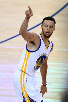 294a2c3bf0f0 Stephen Curry of the Golden State Warriors reacts to a play in Game 1 of  the 2017 NBA Finals against the Cleveland Cavaliers at ORACLE Arena on June.