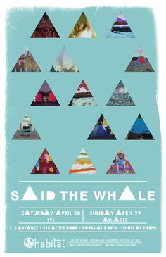 Said the Whale - tour poster for new album Little Mountain
