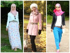 wearing bright colours for hijabis Hijab Fashion, Girl Fashion, Fashion Tips, Muslim Girls, Bright Colours, Islam, Style Inspiration, Facebook, Rock
