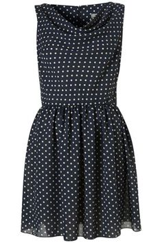 Polka Dot Cowl Neck Dress by Love** - Dresses - Clothing - Topshop