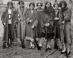 the 1925 girls' rifle team of Drexel Institute, via Shorpy