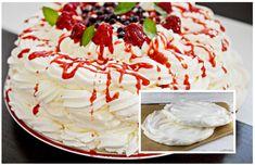 5 Mini Pavlova, Food Cakes, Cake Recipes, Food And Drink, Birthday Cake, Ethnic Recipes, Basket, Mascarpone, Cakes