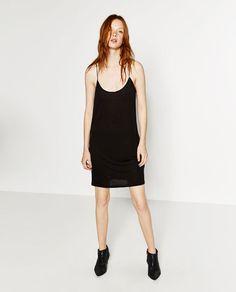 Image 1 of SHORT SLIP DRESS from Zara