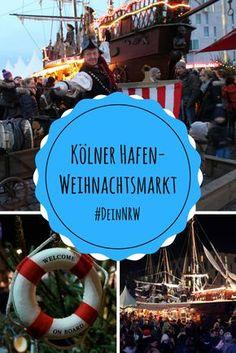 Ein Highlight unter den schönsten Weihnachtsmärkten in NRW 2017 ist der Kölner Hafen-Weihnachtsmarkt: Hier gibt es direkt am Rhein Glühwein vom Holzsegelschiff. © Eventleute GmbH