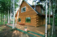 Private, waterfront cabin among trees... - HomeAway Fairbanks