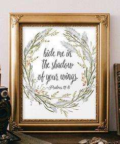 Bible Verse wall art printable Scripture by TwoBrushesDesigns #printableverses