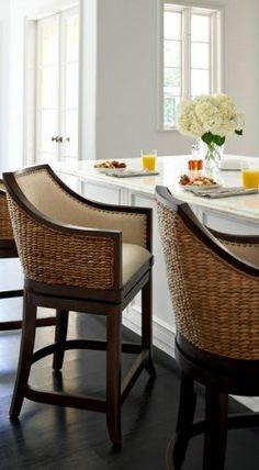 sheldon swivel bar and counter stools - Seagrass Bar Stools
