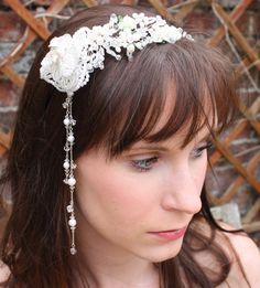 Wedding Hair Band, Side Bridal Tiara, Hair Accessory, Vintage Look - Labyrinth. £135.00, via Etsy.