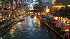 Nightlife on the San Antonio Riverwalk