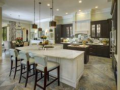 Kitchens | Neal Signature Homes Corner Kitchen with Island