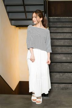 AZUL by moussy | WOMEN 【AZUL by moussy】20/-度詰天竺ボートネック7分PO