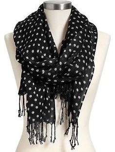 I love polka-dots and scarves.  This is the best of both worlds!