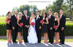 Modern Wedding Photography | Black & Pink Fuchsia Wedding | Golf Course Wedding Photography |