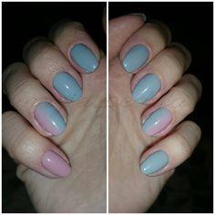 Hybryda na naturalnej płytce + 2 paznokcie na przedłużeniu z delikatnym ombre- pierwszym w życiu! Powiem skromnie, że wyszło idealnie.  #nail #nails #nailpolish #semilac #ombrenails #ombre #gradientnails #gradient #semilacnail #semilacnails #Polish #inspiration #instanails #instanail #pazurki #paznokcie #hybrydowe #hybryda #greynails  #grey #pinknails #pink #nudenails #nude #magiapedzla #magia_pedzla