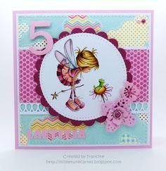 1001 cartes: Nellie Snellen – Birthday Card with Sweet Elin