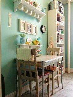 45 super ideen f r farbige w nde k che esszimmer und die k che. Black Bedroom Furniture Sets. Home Design Ideas