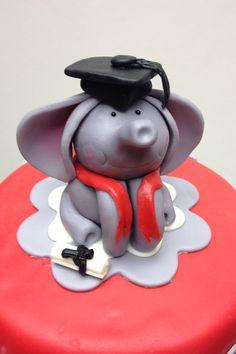 Fondant elephant. University of Alabama graduation.