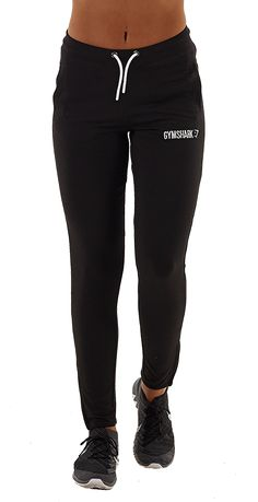 Womens Fit Tapered Bottoms | Black / White | Gymshark Clothing, Shoes & Jewelry : Women http://amzn.to/2kCgwsM