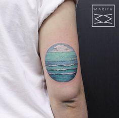 Seascape Tattoo Design by Mariya Summer