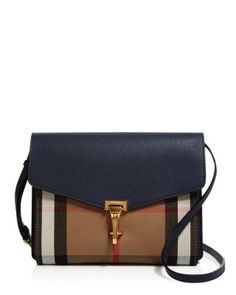 3e89837c0252 Burberry Macken House Check Small Crossbody Handbags - All Handbags -  Bloomingdale s