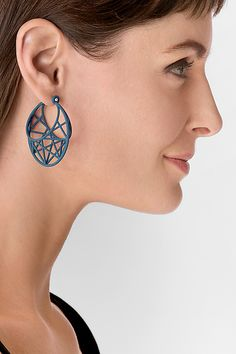Star Cage Hoops: Maria Eife: Nylon Earrings | Artful Home- Love this architectural design!
