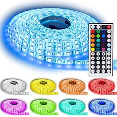 Rxment® Led Strip Lighting 10M 32.8 Ft 5050 RGB 300leds Flexible Color Changing Full Kit with 44 Keys IR Remote Controller +Control Box+ 12v 5A Power Supply for Home Lighting & Kitchen and Christmas Decorative Rxment http://www.amazon.com/dp/B00WRDG9CQ/ref=cm_sw_r_pi_dp_Ekqowb1DS2JDK