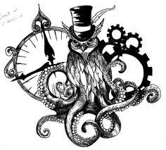 owl steampunk drawings - Google Search