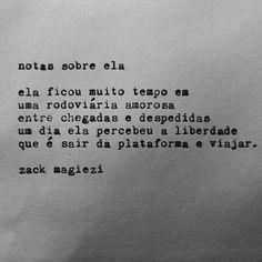 Mochileira?  #notassobreela  #zackmagiezi