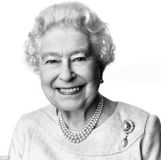 'Kind eyes': This portrait of the Queen, taken by celebrated British photographer David Bailey, was released today ahead of her 88th birthday tomorrow