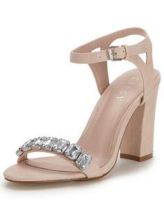 Lipsy Becca Two Part Block Heel Sandals | very.co.uk