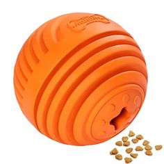 Dog Toy Ball Jakpak Fun Feeder Toy for Dogs Dispensing Balls IQ Treat Toys interactive Pets Toys Dispenser Toy Refillable Food Treat Ball for Pets Dogs Foraging Toy for Medium Large Dogs Orange *** Check out the image by visiting the link.Note:It is affiliate link to Amazon. #CatsLover