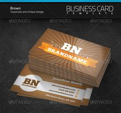 Brown Business Card | $6