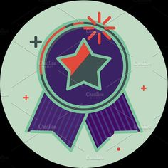 Best of badge with ribbon icon award champion label. Premium Icons