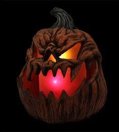 Flaming Pumpkin Prop – Distortions Unlimited Halloween Candy Bowl, Halloween Music, Spooky Halloween Decorations, Halloween Night, Holidays Halloween, Halloween Pumpkins, Evil Pumpkin, Pumpkin Mask, Scary Pumpkin