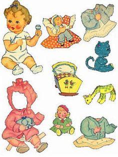 Bonecas de Papel: Bebes Vintage
