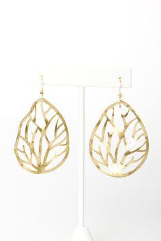 branch cut out earrings